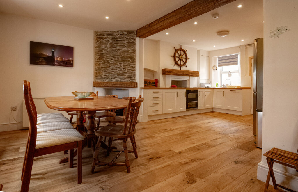 Coastguards View, Mevagissey - dining area for 6 to 8 people